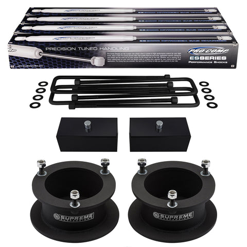 GAsupply 3 in Front Forged Leveling Lift Kit Strut Spacers Compatible with 2006-2017 Dodge Ram 1500 4WD 2005-2011 Dodge Dakota 2WD
