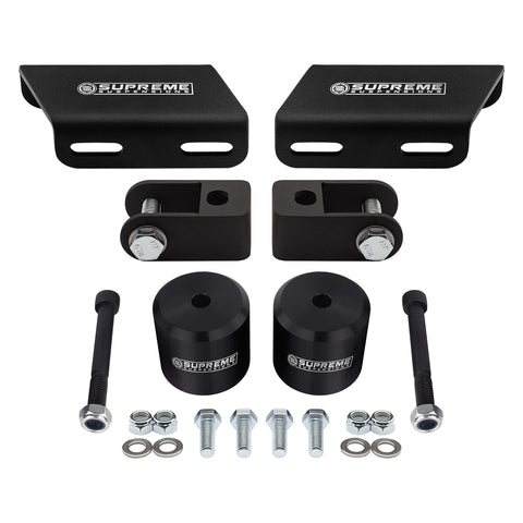 "2008-2020 Ford Super Duty Front Suspension Lift Kit, Shock Extenders & Sway Bar Drop Bracket 4WD-Suspension Lift Kits-Supreme Suspensions-F-250 Super Duty-Black-1.5""-Supreme Suspensions®"