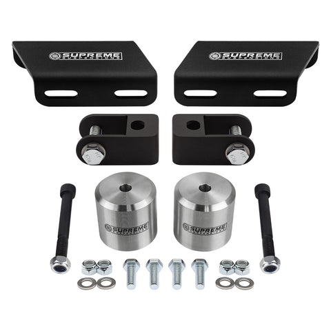 "2008-2020 Ford Super Duty Front Suspension Lift Kit, Shock Extenders & Sway Bar Drop Bracket 4WD-Suspension Lift Kits-Supreme Suspensions-F-250 Super Duty-Silver-1.5""-Supreme Suspensions®"