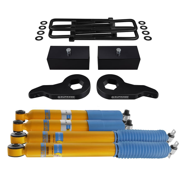 1988-1999 Chevy GMC K2500 K3500 Full Suspension Lift Kit & Bilstein Shocks 4WD 4x4