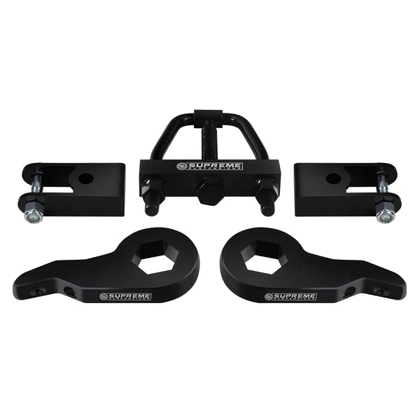 2000-2006 Chevy Suburban 1500 Front Suspension Lift Kit w/ Shock Extenders & Install Tool 4WD 4x4