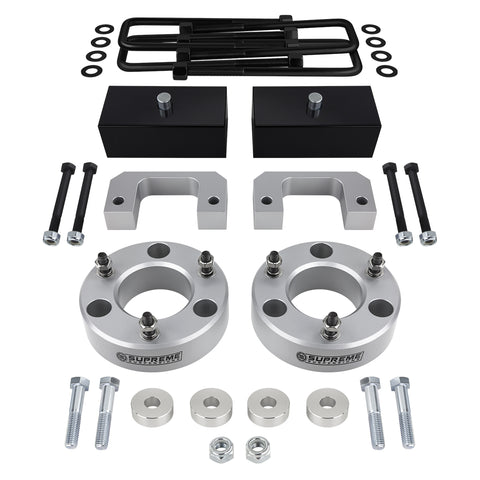 "2007(New)-2018 Chevy Silverado 1500 Z71 / LTZ Full Suspension Lift Kit & Differential Drop 4WD 4x4-Suspension Lift Kits-Supreme Suspensions-Silver-3.5""-2""-Supreme Suspensions®"