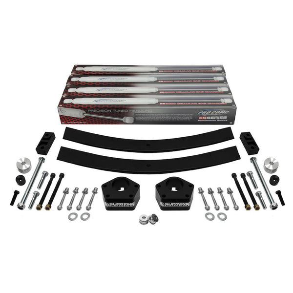 1985-1998 Toyota IFS Pickup Full Add a Leaf Rear Suspension Lift Kit & Extended Pro Comp Shocks 4WD