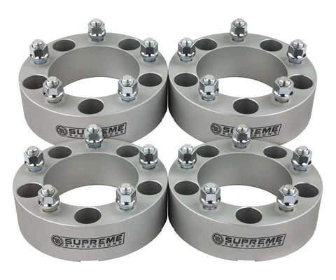 "1966-1996 Ford Bronco 2"" Lug Centric Wheel Spacers 2WD 4WD-Wheel Spacers-Supreme Suspensions-Silver-(x4) Piece-Supreme Suspensions®"