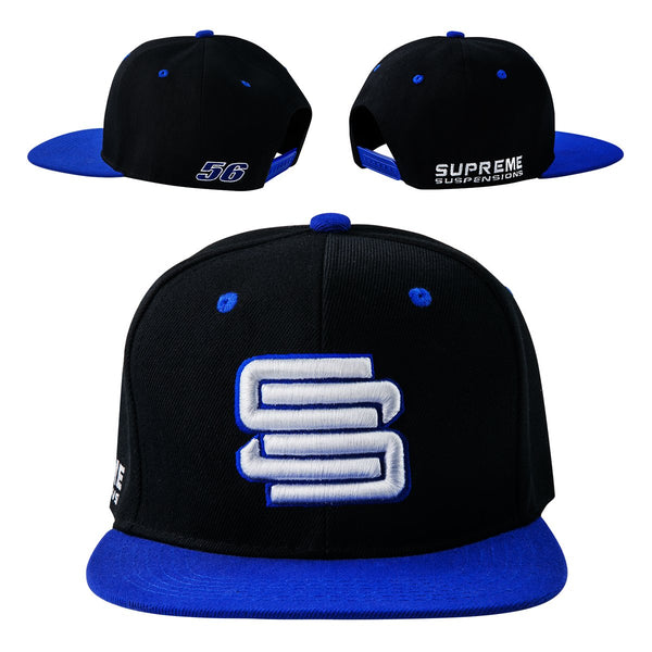 Supreme Suspensions Royal On Black Two-Toned Premium Snapback Race Hat