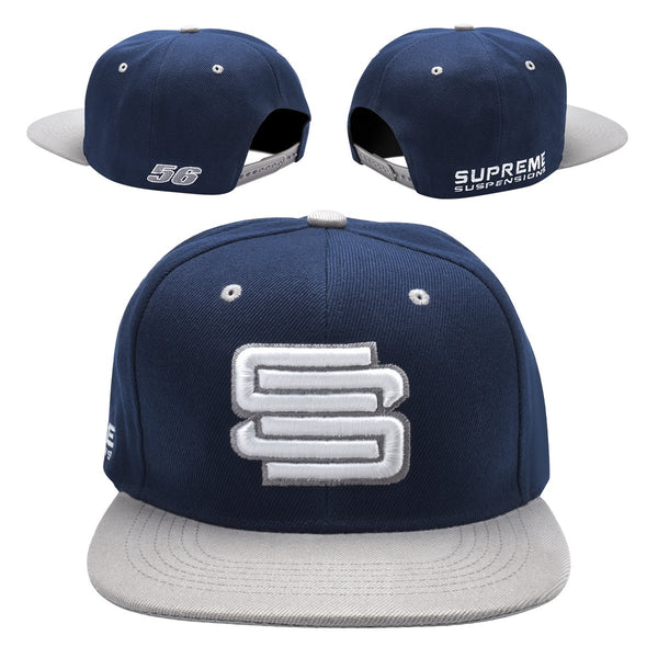 Supreme Suspensions® Gray On Navy Two-Toned Premium Snapback Race Hat