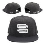 Supreme Suspensions® Gray On Gray Two-Toned Premium Snapback Race Hat