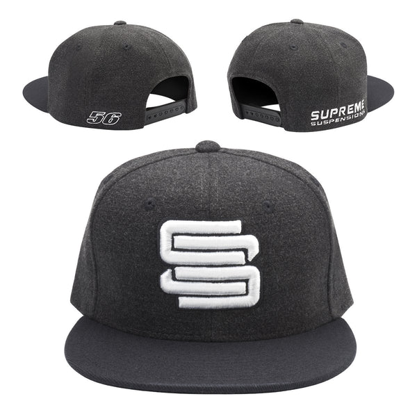 02dca655d Supreme Suspensions Gray On Gray Two-Toned Premium Snapback Race Hat ...