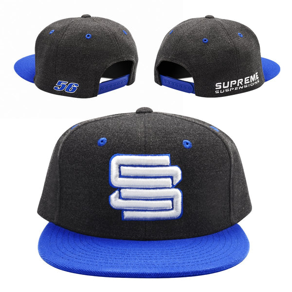 Supreme Suspensions® Royal On Gray Two-Toned Premium Snapback Race Hat
