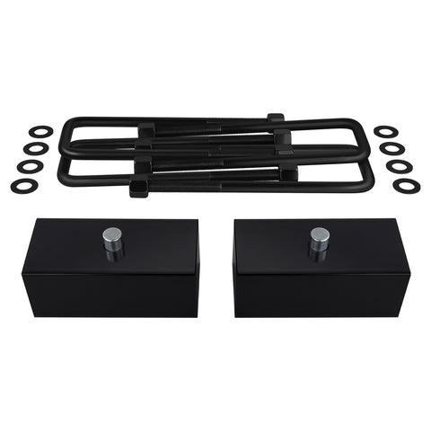 "1999-2020 Chevy Silverado 1500 Rear Suspension Lift Kit Blocks & U Bolts 2WD 4WD-Suspension Lift Kits-Supreme Suspensions-2""-2000-2006-Supreme Suspensions®"
