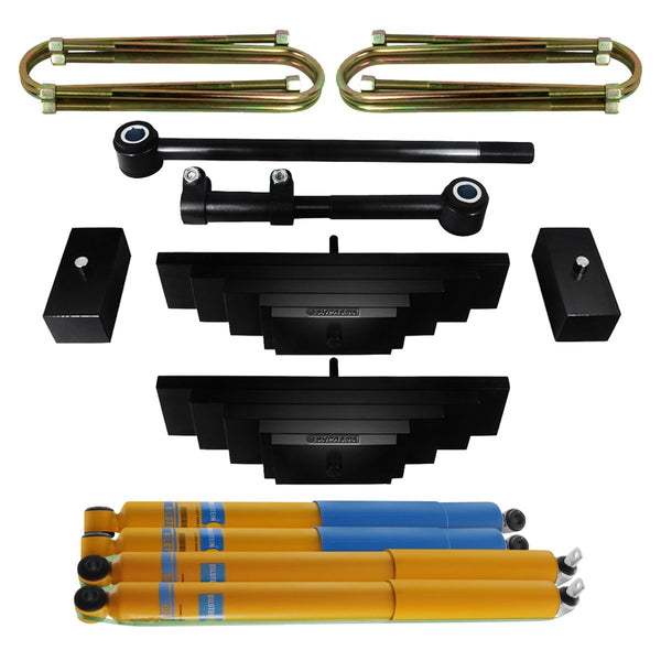 1999-2005 Ford Excursion Full Leaf Pack Suspension Lift Kit w/ Adjustable Track Bar & Bilstein Shocks 4WD 4x4