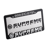 Supreme Suspensions® Aluminum License Plate with Frame
