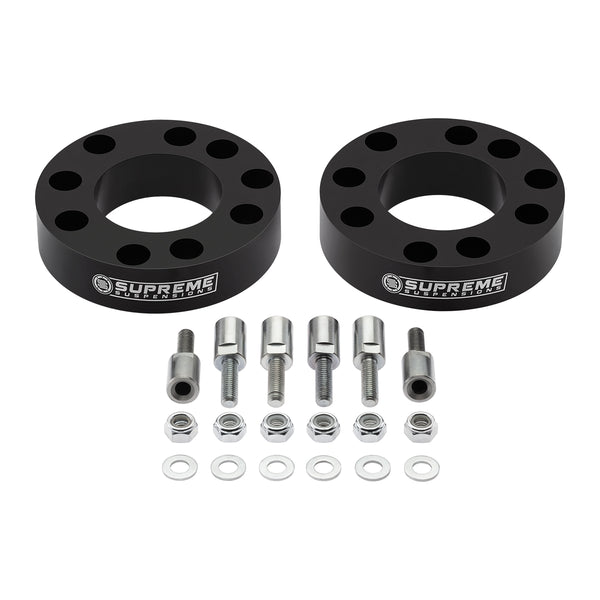 "2004-2010 Infiniti QX56 2"" Front Suspension Lift Strut Spacers with Stud Extenders 2WD"