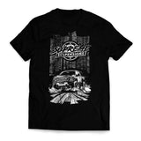 Supreme Suspensions® White On Black Two-Toned Cotton-Blended Premium T-Shirt