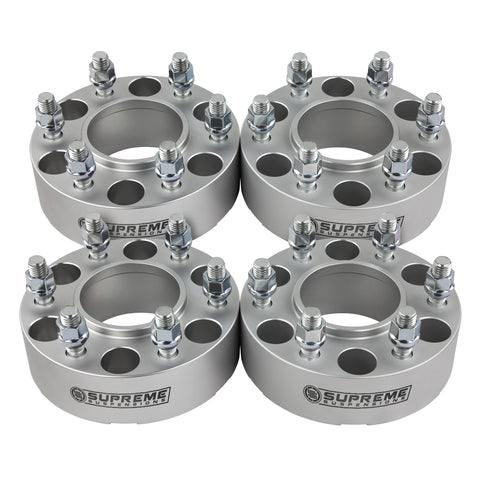 "2001-2007 Toyota Sequoia 2wd 4wd Wheel Spacers (Hub Centric)-Wheel Spacers-Supreme Suspensions-Silver-(x4) Piece-1.5"" Spacer-Supreme Suspensions®"