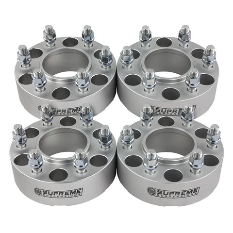 "1999-2016 Cadillac Escalade 2wd 4wd Wheel Spacers (Hub Centric)-Wheel Spacers-Supreme Suspensions-Silver-(x4) Piece-1.5"" Spacer-Supreme Suspensions®"