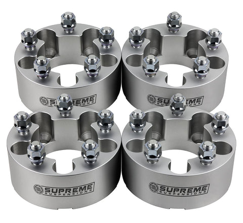 "1984-2001 Jeep Cherokee XJ 2wd 4wd Wheel Spacers-Wheel Spacers-Supreme Suspensions-Silver-(x4) Piece-1"" Spacer-Supreme Suspensions®"