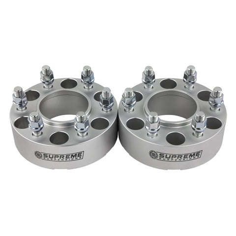 "2005-2017 Nissan Frontier Hub Centric Wheel Spacers 2WD / 4WD-Wheel Spacers-Supreme Suspensions-(x2) Pieces-Silver-1.5""-Supreme Suspensions®"