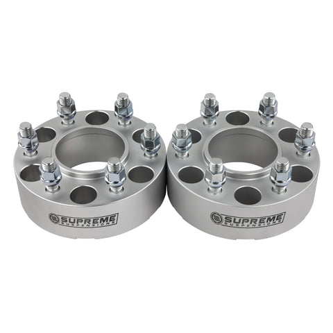 "2015-2019 Lincoln Navigator Hub Centric Wheel Spacers 2WD 4WD-Wheel Spacers-Supreme Suspensions-Silver-(x2) Piece-1.5"" Spacer-Supreme Suspensions®"