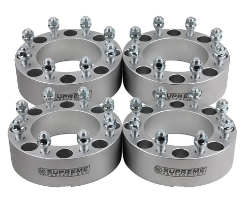 "2003-2009 Hummer H2 2WD 4WD Lug Centric Wheel Spacers-Wheel Spacers-Supreme Suspensions-1.5""-Silver-(x4) Piece-Supreme Suspensions®"