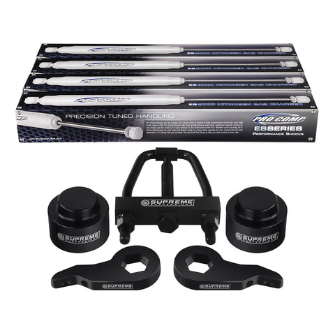 "2000-2006 Chevy Tahoe Full Suspension Lift Kit, Torsion Key Tool & Ext. Pro Comp Shocks 4WD 4x4-Suspension Lift Kits-Pro Comp and Supreme Suspensions-Billet Aluminum-1.5""-Supreme Suspensions®"