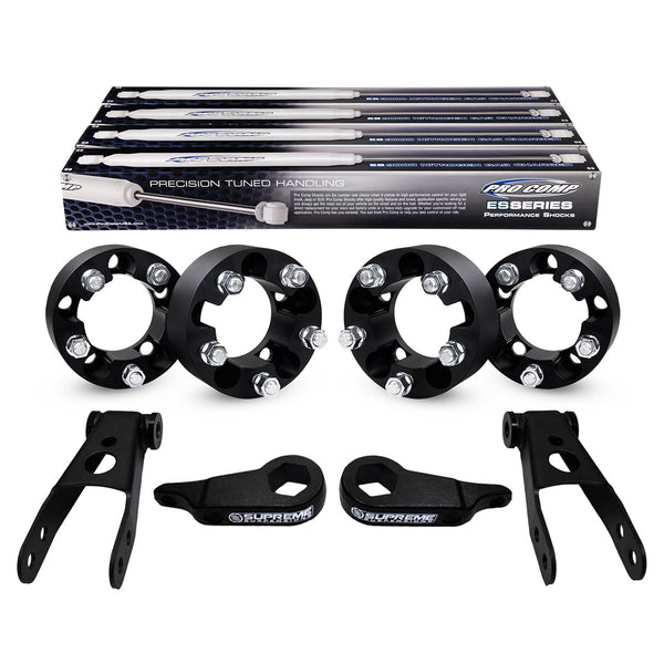 1997-2011 Ford Ranger Full Suspension Lift Kit, Wheel Spacers & Extended Pro Comp Shocks 4WD
