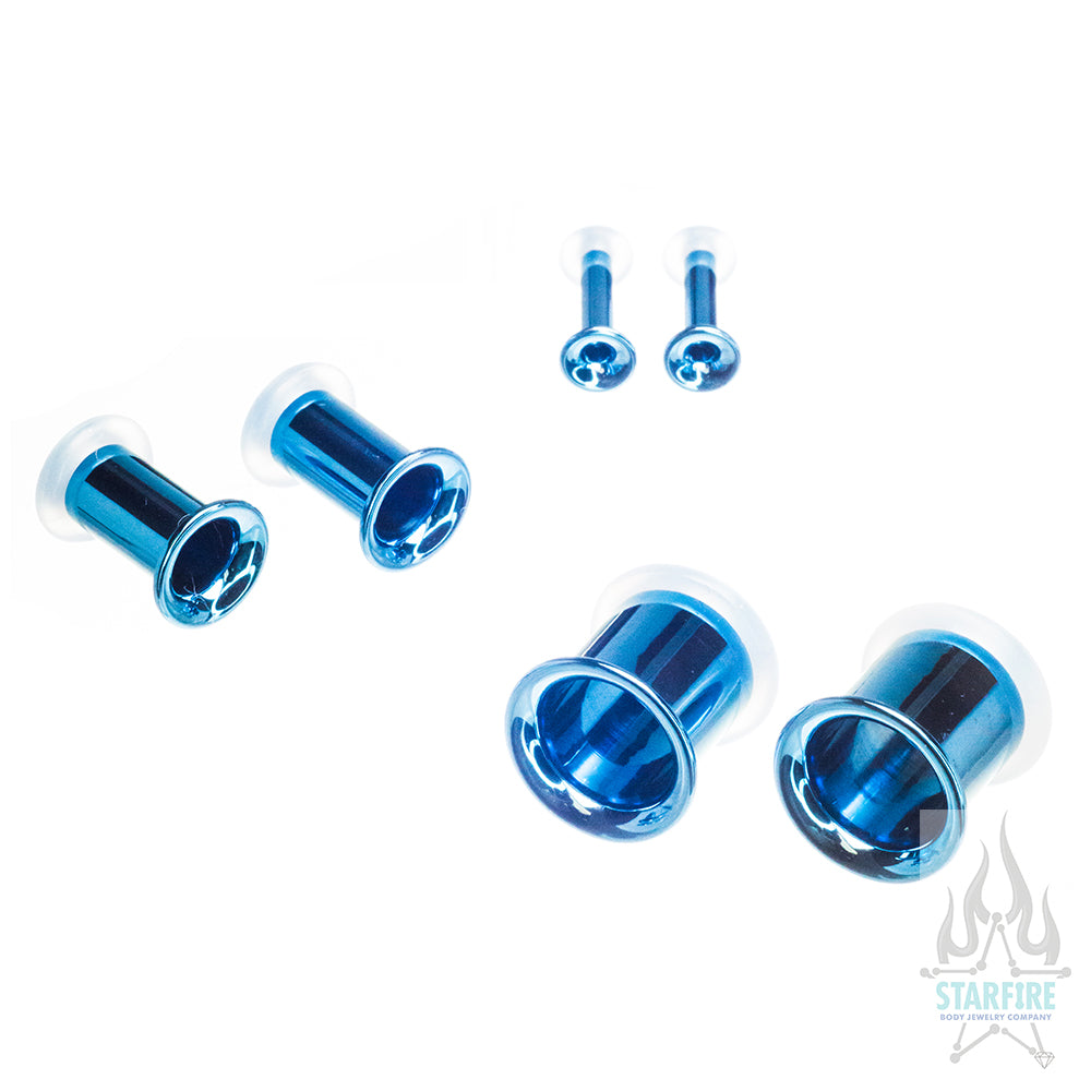 Titanium Eyelets - Light Blue