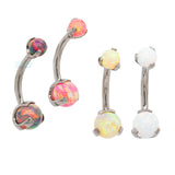 Prong Opal Ball Navel Curve