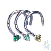Prong-set CZ Nostril Screw