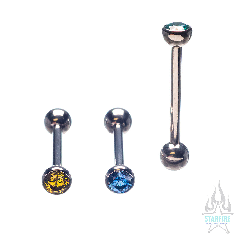 CZ Tongue Barbell
