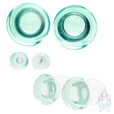 Glass Colorfront Plugs - Caribbean Blue (Premium)