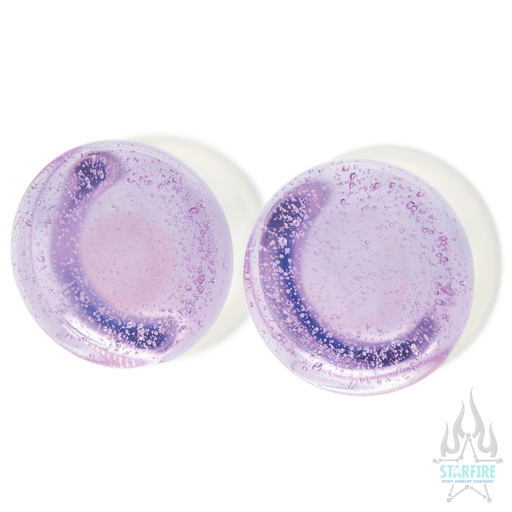 Glass Colorfront Plugs - Pink Slime