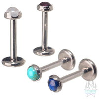3mm Prong-Set Natural Stone Cabochon on Flatback