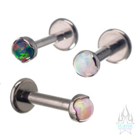 3mm Prong-Set Opal Cabochon on Flatback