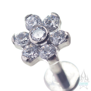 Flower #1 - 2mm/2mm CZs on Flatback