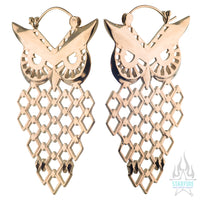 Owl Earrings - Gold