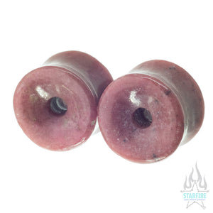 Mayan Stone Plugs - Rhodonite
