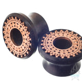 Inlay Afghan Plugs - Ebony with Copper