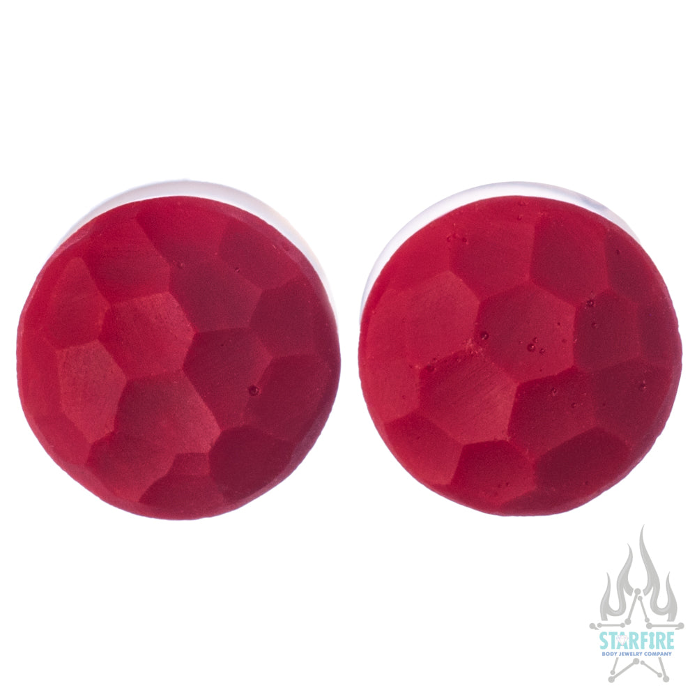 Martele Glass Color Front Plugs - Red