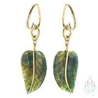 Moss Agate Leaves Hangers