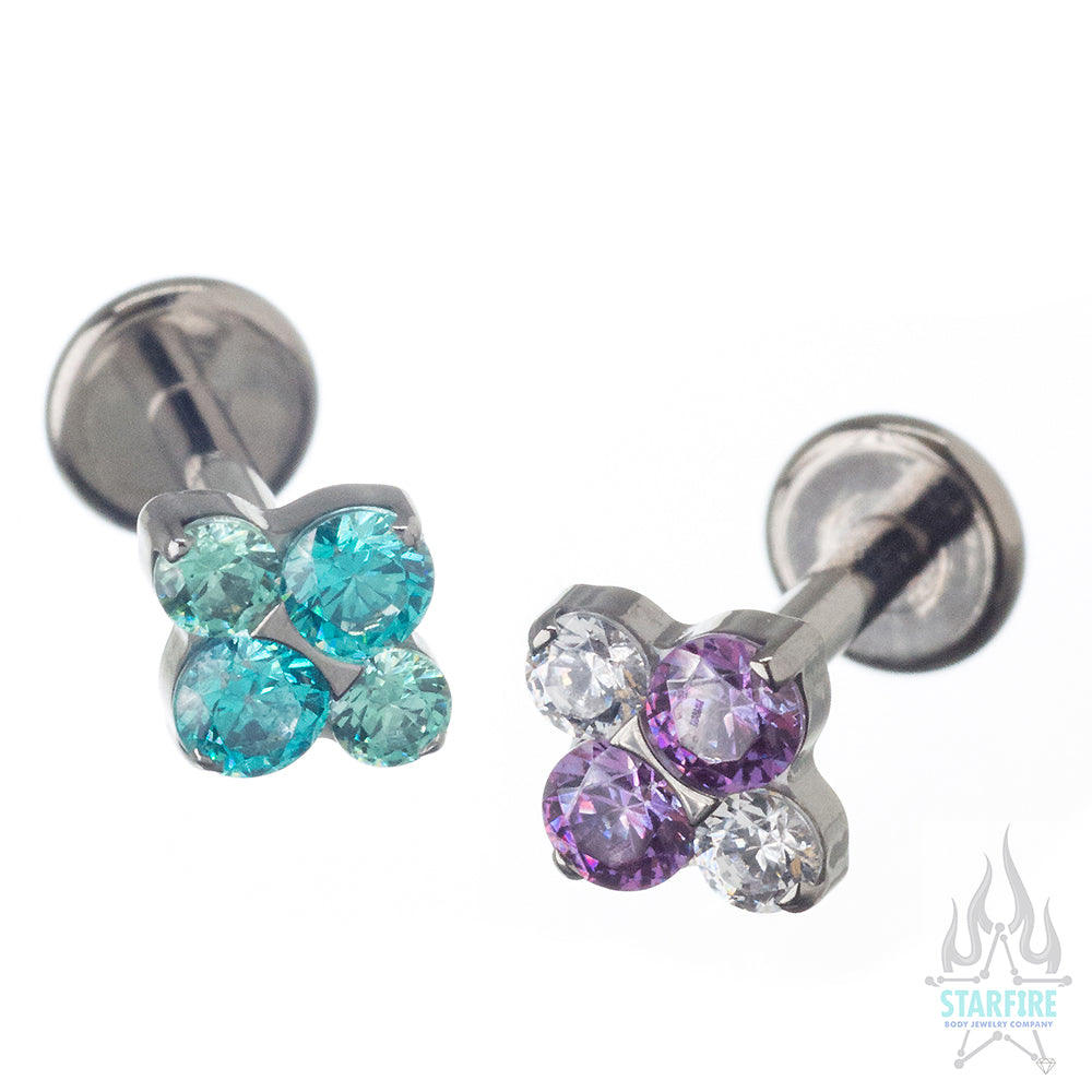 """North Star"" Faceted Gem Cluster on Flatback - custom color combos"