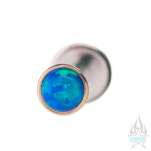 3mm Opal in Cup Setting in Gold - on flatback