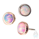 threadless: 3mm Round Opal Pin in Gold Cup