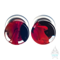 Glass Power Plugs - Red Black