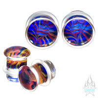 Glass Feather Plugs