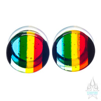 Glass Linear Plugs - Rainbow