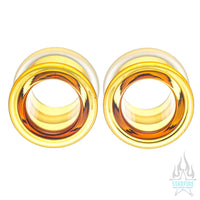 Boro Bullet Holes (glass eyelets) - Honey