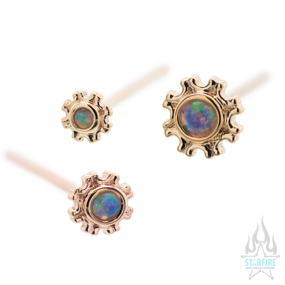 """Firenze"" Nostril Screw in Gold with White Opal"