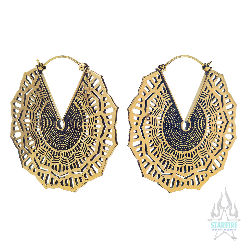 Reyes (Standard / Earrings) - Brass