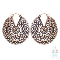 Temple of the Sun (Standard / Earrings) - Copper